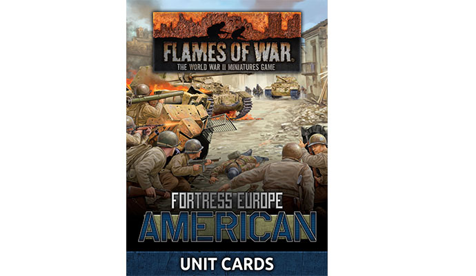 Fortress Europe American Unit Cards (FW261U)