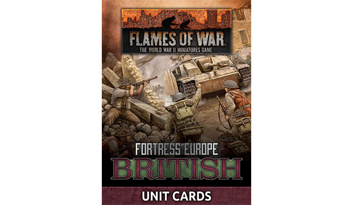 Fortress Europe British Unit Cards (FW261B)