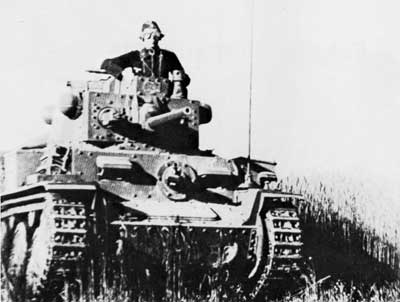 Panzer 38(t) tank used by the Germans
