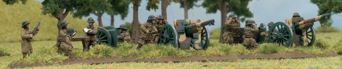 A French 75mm artillery battery