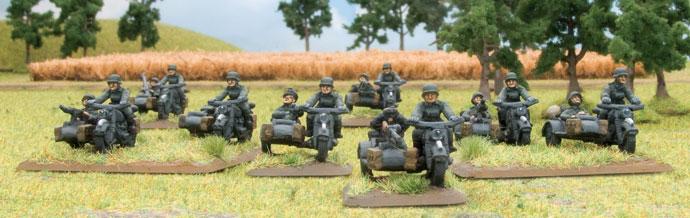 A German Kradschützen Platoon