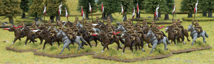 Polish cavalry on the charge