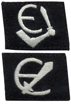 Top: The preferred Estonian version Bottom: German SS Collar patch.