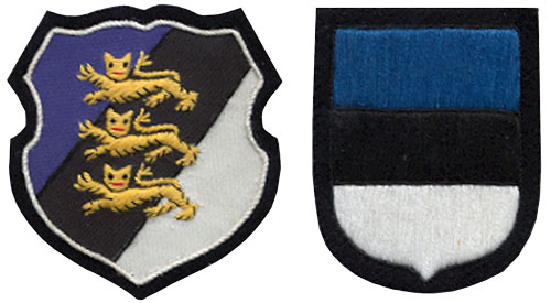 Left: Early Arm Shield. Right: Later SS Arm Shield