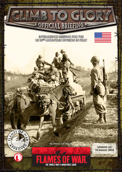 Climb to Glory: 10th Mountain Division in Italy, 1944 to 1945.