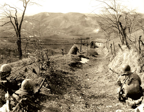 10th Mountain Division troops in Northern Italy