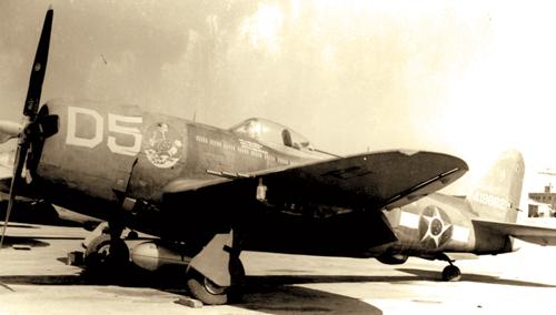 A P-47 Thunderbolt in Brazilian service