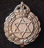 Jewish Cap Badge