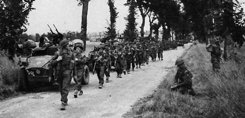 15th Division on the march through Normandy