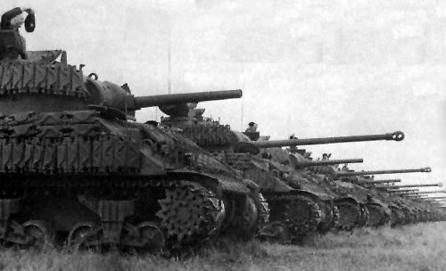 4th Canadian Armoured Division Sherman tanks