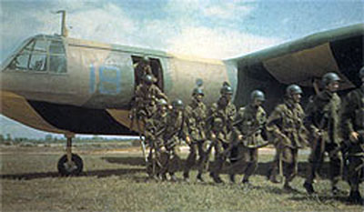 Unloading from a Horsa Glider after training.