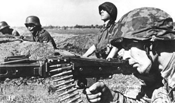 Waffen-SS Machine-gunner armed with a MG42