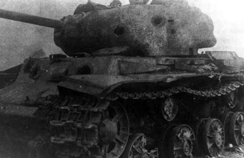 KV-1s tank that took many shots before it was knocked out