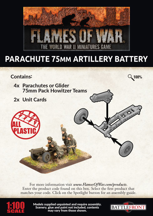 Parachute 75mm Artillery Battery (Plastic) (UBX66)