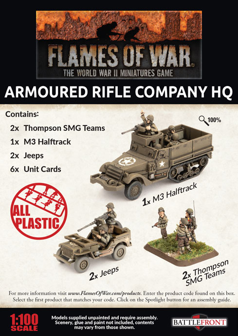 Armoured Rifle Company HQ (Plastic) (UBX74)