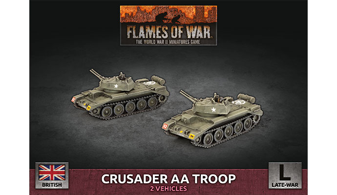 Crusader Armoured AA Troop (Plastic) (BBX59)