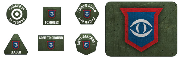 Guards Armoured Division Token Set (BSO900)