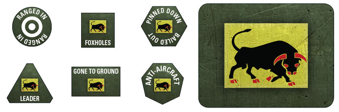 11th Armoured Division Token Set (BSO902)