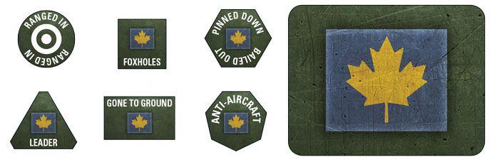 3rd Canadian Infantry Division Token Set (BSO907)