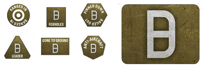 21st Panzer Token & Objective Set (GSO905)