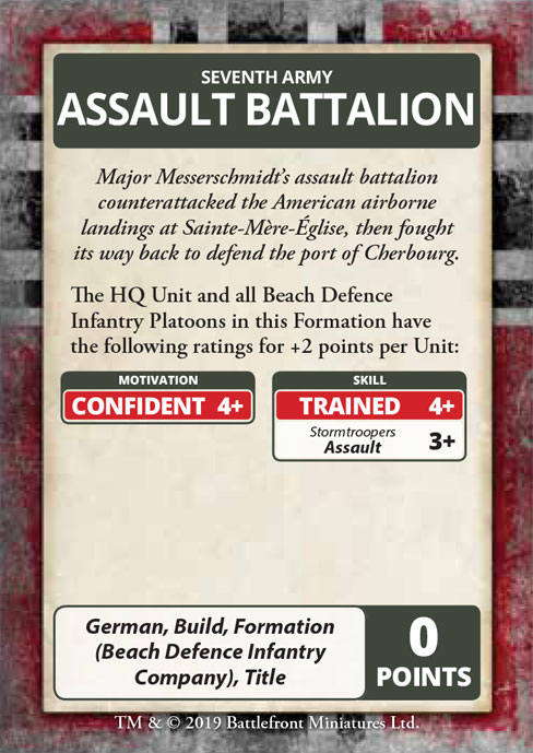 D-Day: German Command Cards (FW263C)