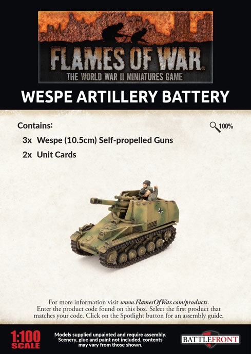 Wespe Artillery Battery (GBX155)