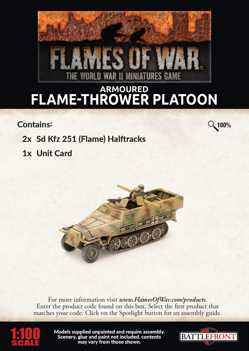 Armoured Flame-thrower Platoon (GBX156)