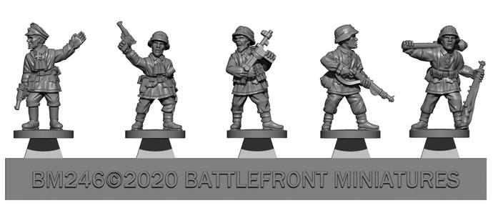 Armoured Panzergrenadier Company HQ (Plastic) (GBX168)