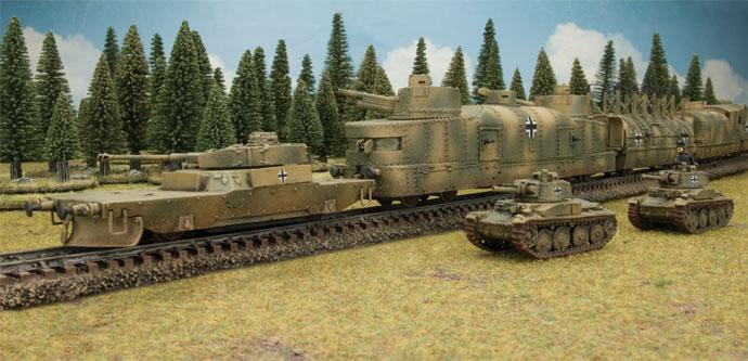 Captured Polish Armoured Train in German Service