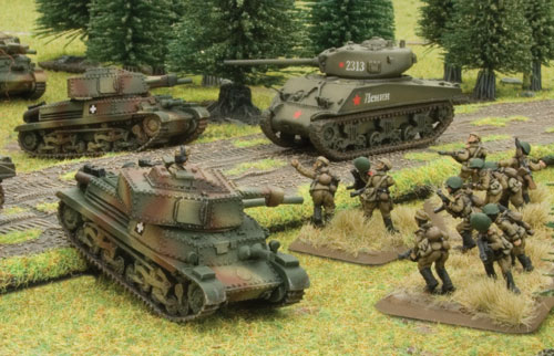 Turan II tanks take on Soviet M4 76mm Shermans