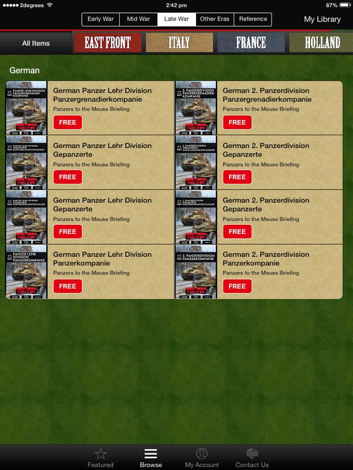 Using The Flames Of War Digital App