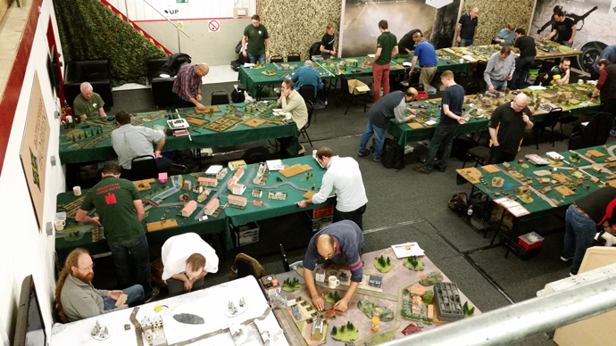 Action from the 2016 UK Flames Of War Grand Tournament.