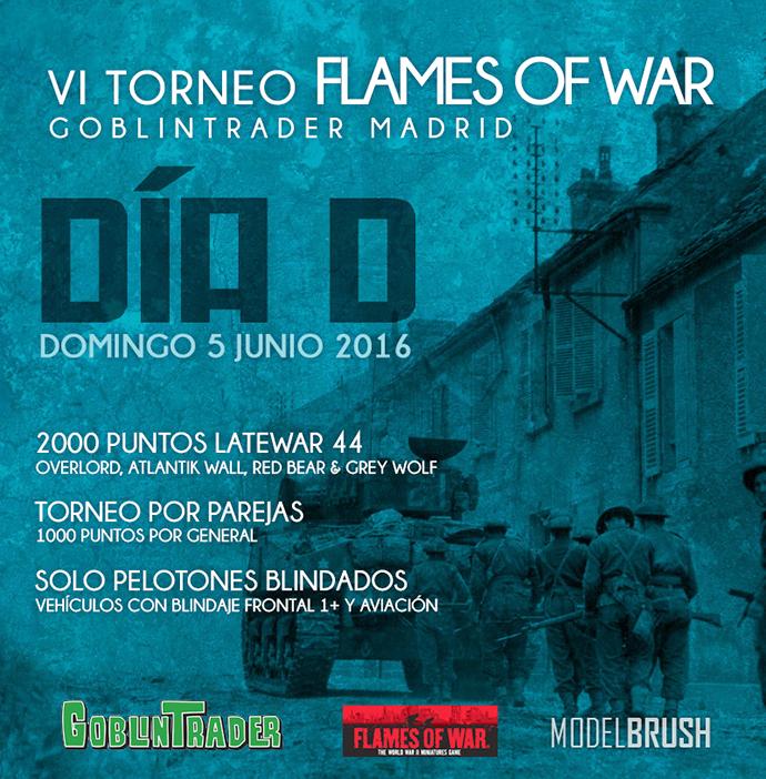 VI Torneo Flames Of War – 'Dia D' at Goblin Trader Madrid