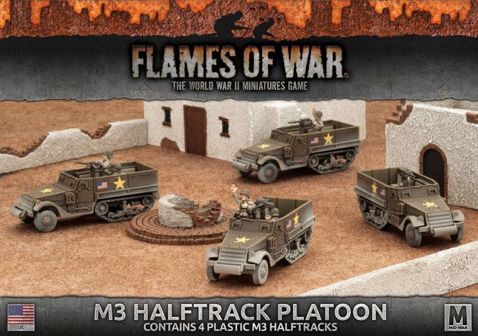 M3 Halftrack Platoon (Plastic) (UBX57)