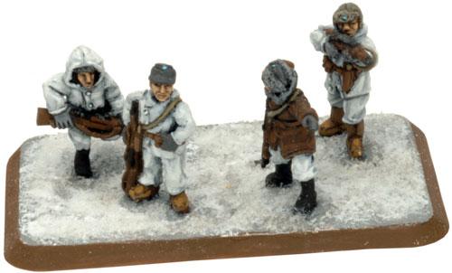 Flames Of War Models  Jaakari Smg Platoon Winter
