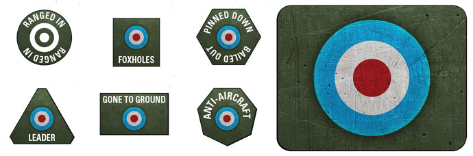 Late War British Token & Objective Set (BR905)