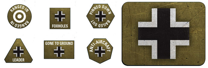 Late War German Token & Objective Set (GE905)