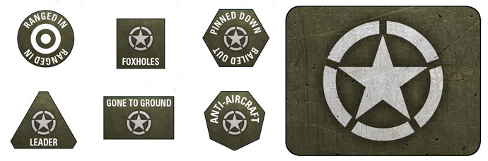 Late War American Token & Objective Set (US907)