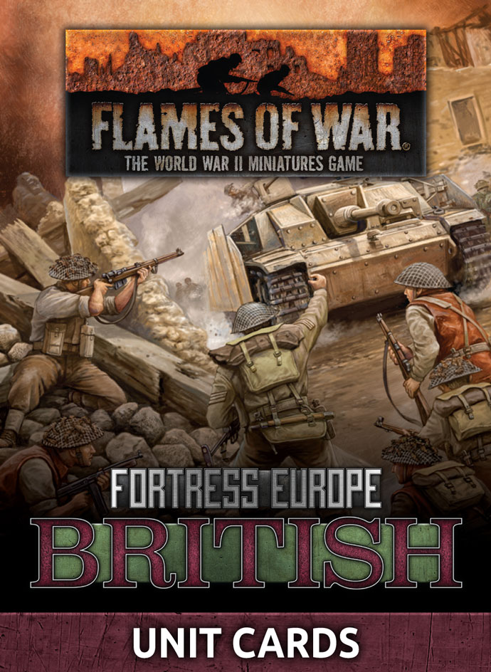 Fortress Europe: British Unit Cards (FW261B)
