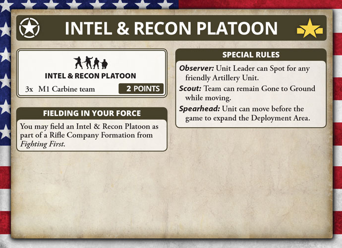 Intelligence and Reconnaissance Platoon