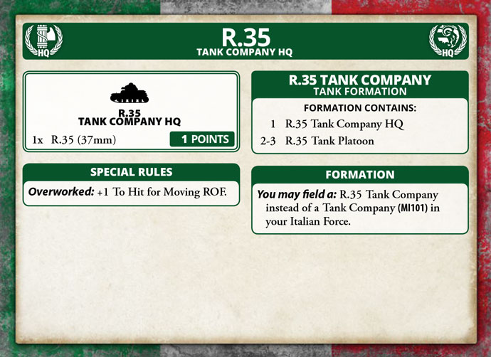 Renault R35 – Infantry Support Tank