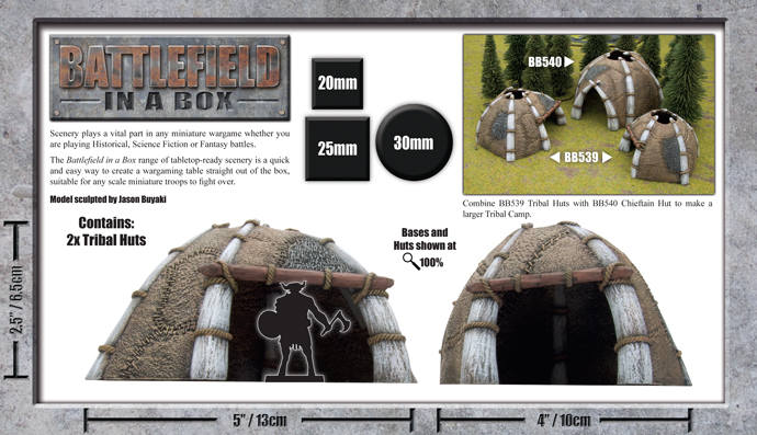Battlefield in a Box: Bestial Huts (BB539)