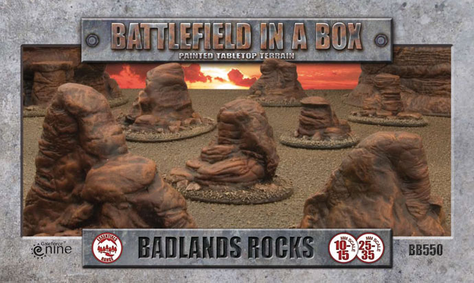 Battlefield in a Box - Badlands Rocks (BB550)