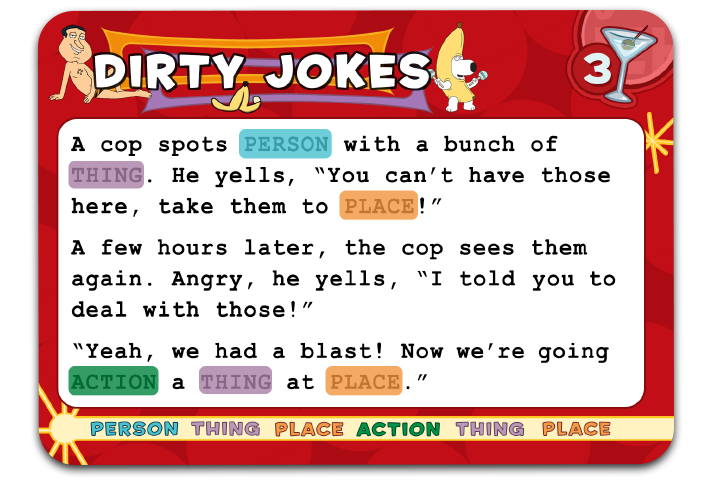 Mike's Dirty Joke Party Card