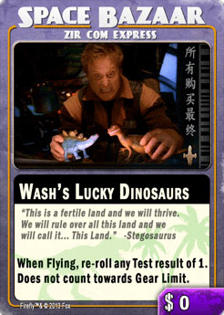 Wash's Lucky Dinosaurs Card