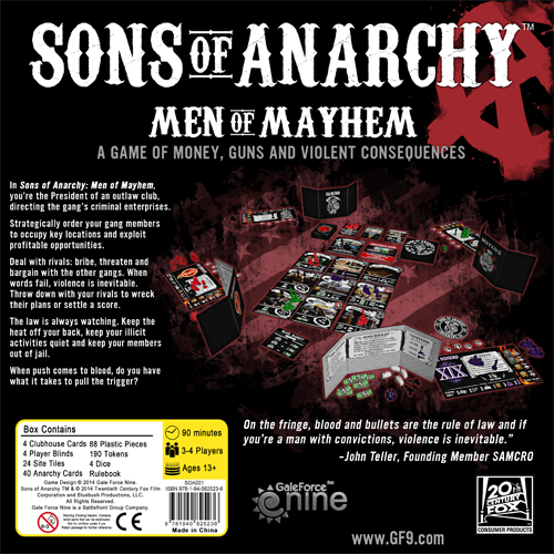Sons of Anarchy: Men of Mayhem - Game Contents