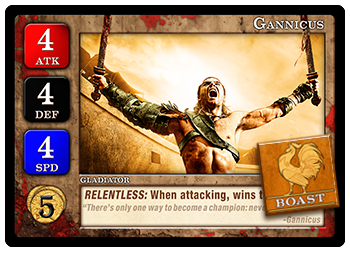 Boast Token on Gannicus