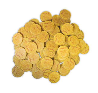 Spartacus Gold Coin Tokens