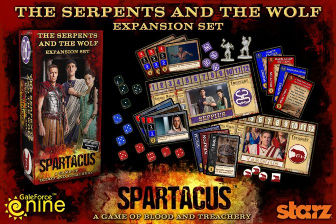 Spartacus: The Serpents and the Wold Expansion Set Teaser Image