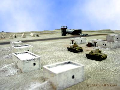 WWII Desert Airstrip in 15mm